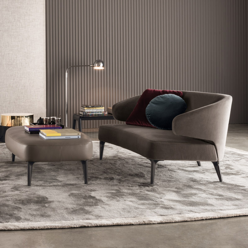 Minotti Aston Sofa Orange Skin