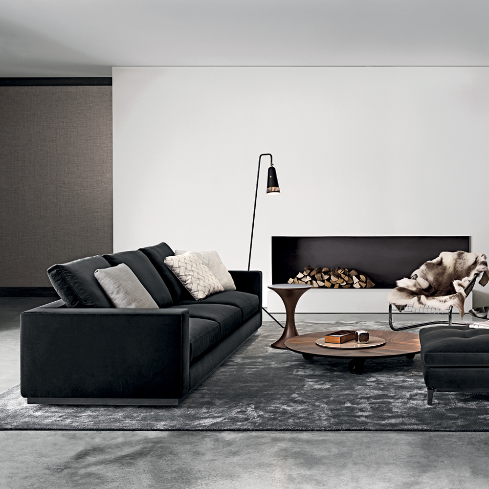Andersen line designed by rodolfo dordoni minotti for Andersen leather chaise sectional