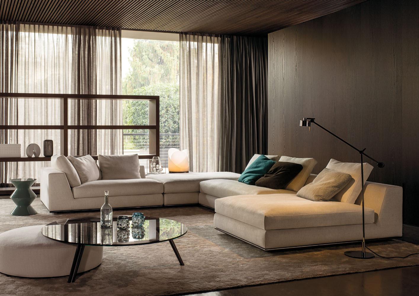 hamilton modulo designed by rodolfo dordoni minotti orange skin. Black Bedroom Furniture Sets. Home Design Ideas