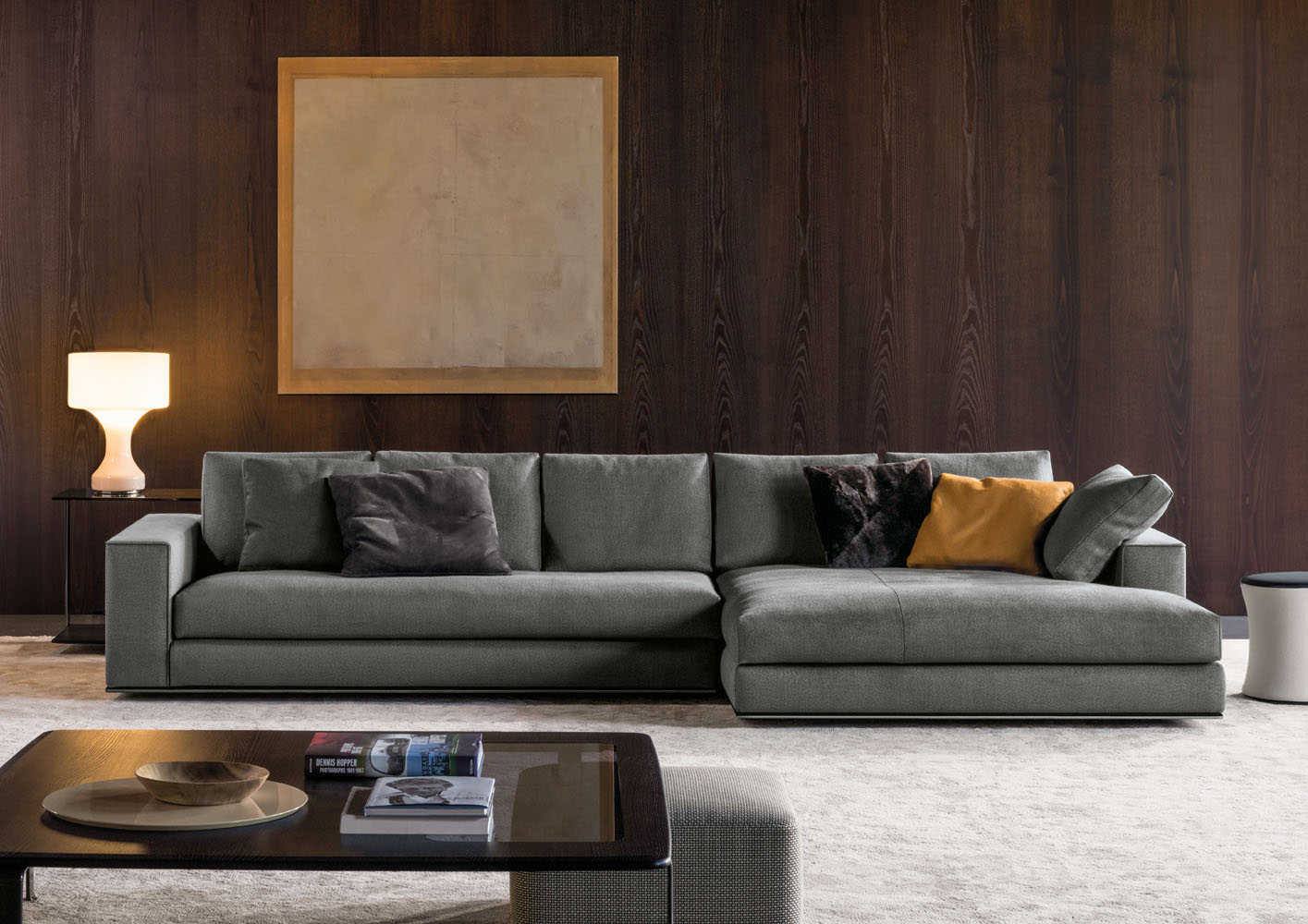 Hamilton Sofa Designed By Rodolfo Dordoni Minotti Orange Skin