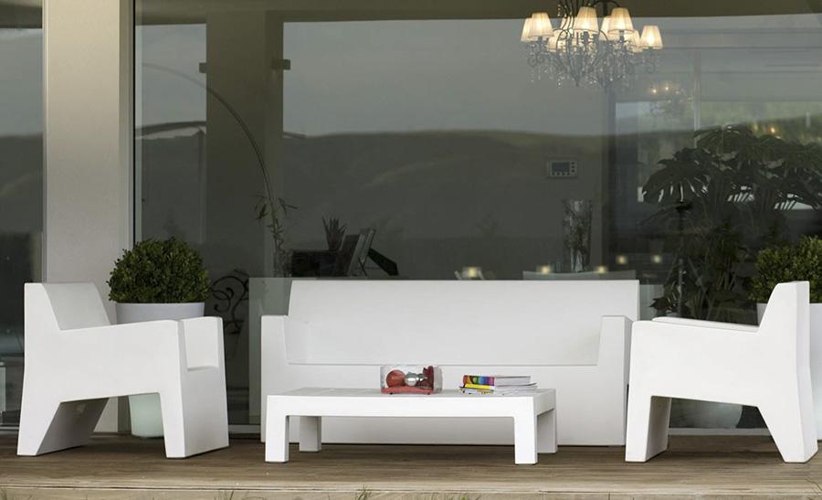 Jut Sofa Designed By Studio Vondom Orange Skin
