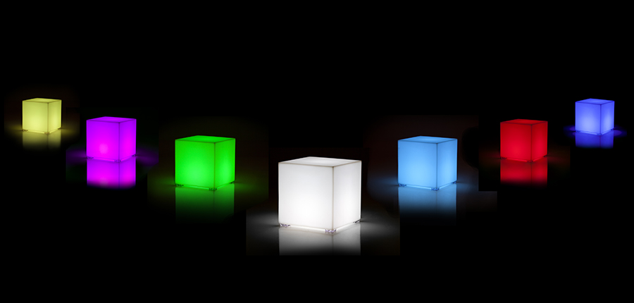 Kubik Lamp Designed By Studio Vondom Vondom Orange Skin