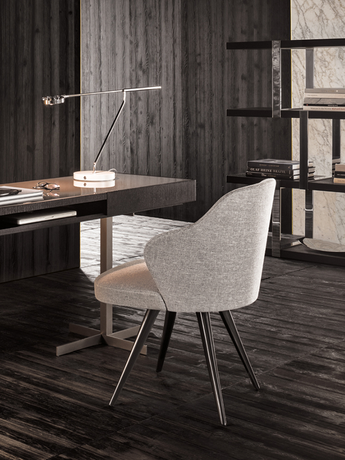 Leslie Dining Chair Designed By Rodolfo Dordoni Minotti