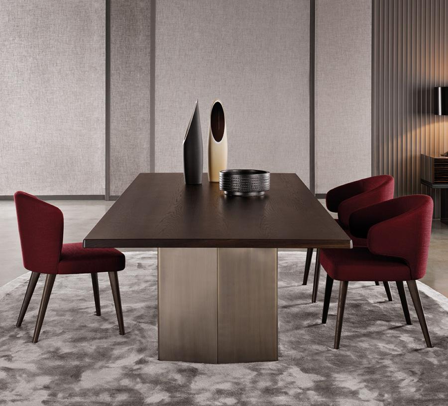 Morgan Table Designed By Rodolfo Dordoni Minotti Orange Skin