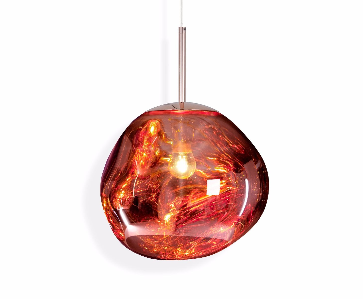 Melt mini pendant light designed by tom dixon orange skin melt mini pendant light aloadofball Choice Image
