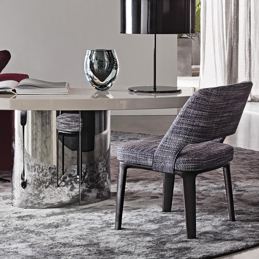 Owens Chair Designed By Rodolfo Dordoni Minotti Orange