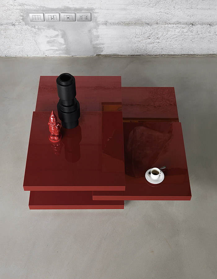 Rotor Table Designed By Luciano Bartoncini Kristalia Orange Skin