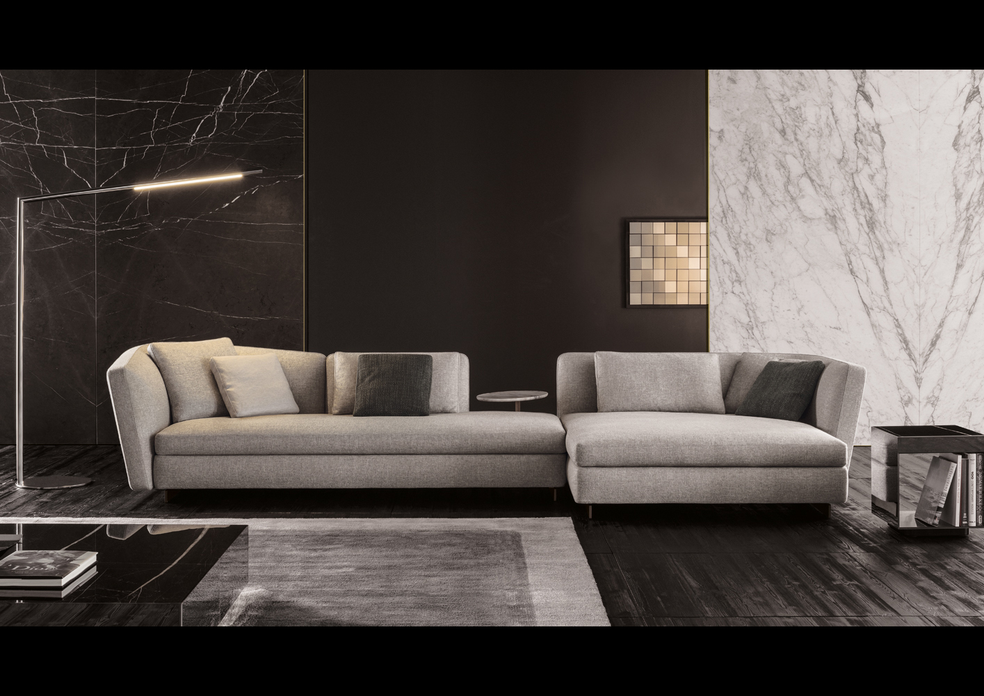 Seymour Sofa | Designed By Rodolfo Dordoni, Minotti, Orange SKin