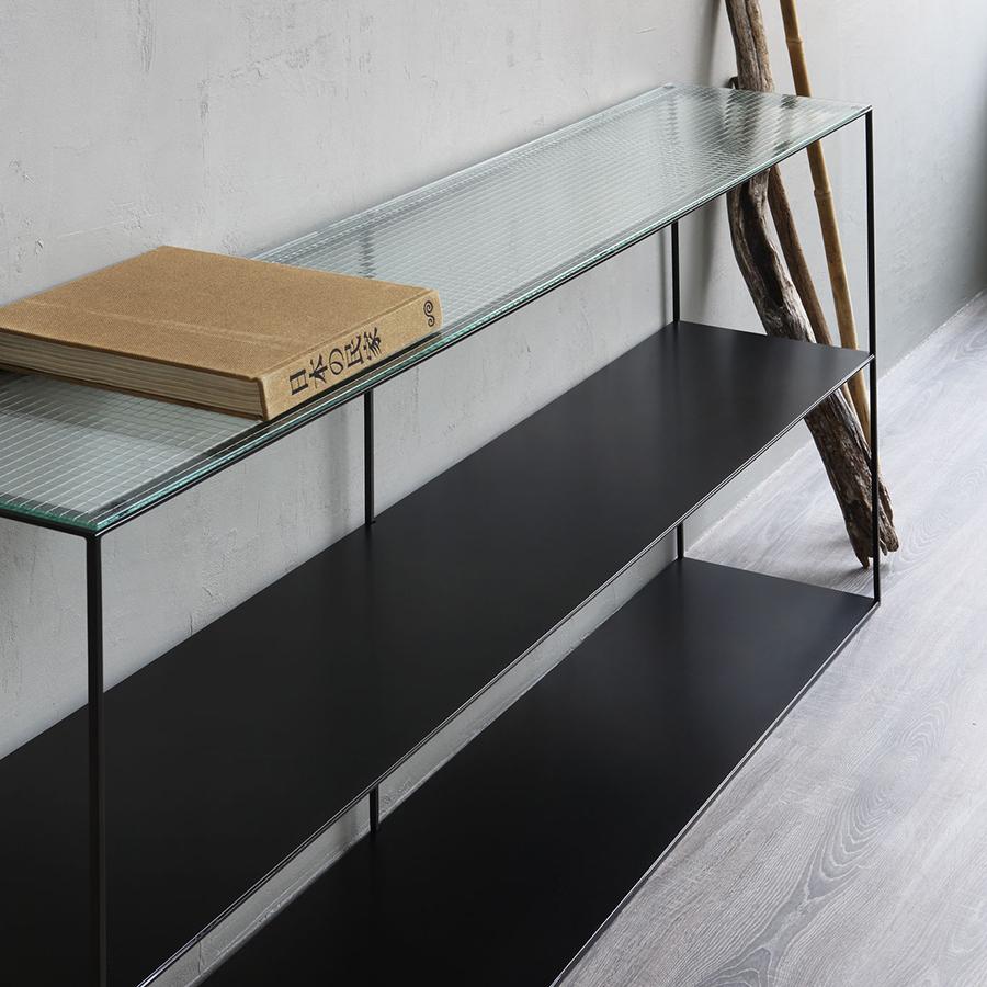 Slim Irony Sideboard Glass Slim Irony Sideboard Glass
