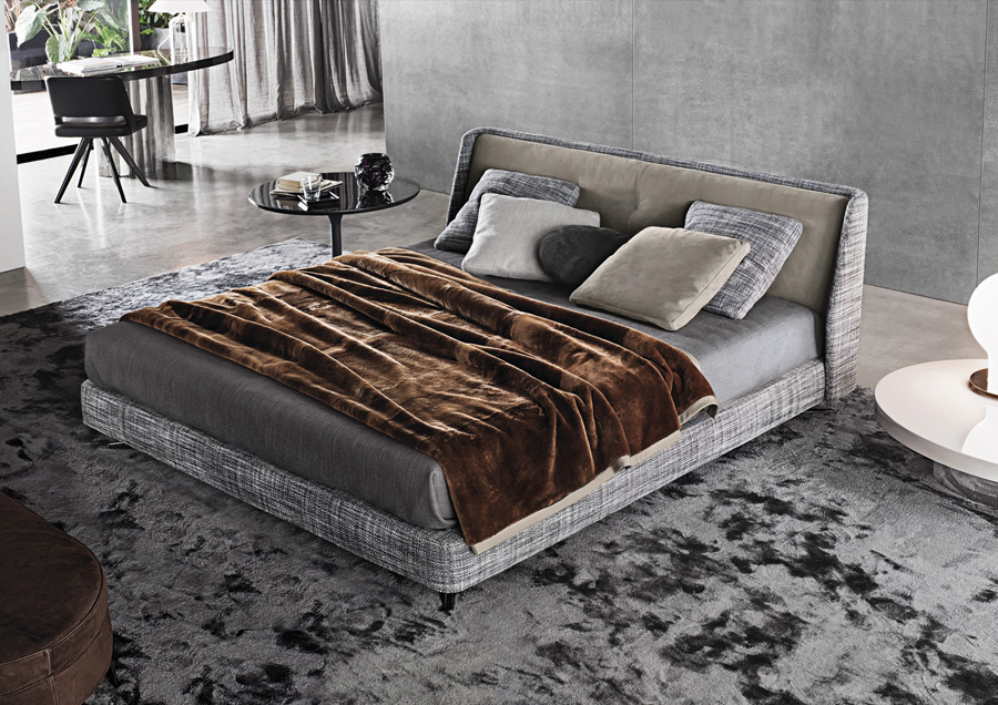 Spencer Bed Designed By Rodolfo Dordoni Minotti Orange