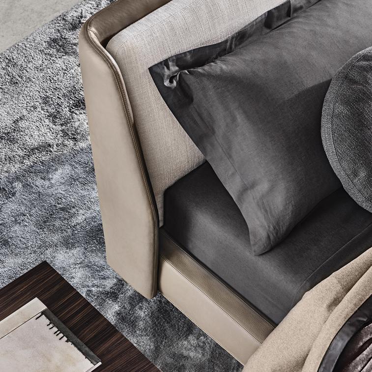 Spencer Bed Designed By Rodolfo Dordoni Minotti Orange