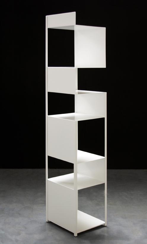 Tito Bookcase Designed By Franco Raggi Zeus Orange Skin