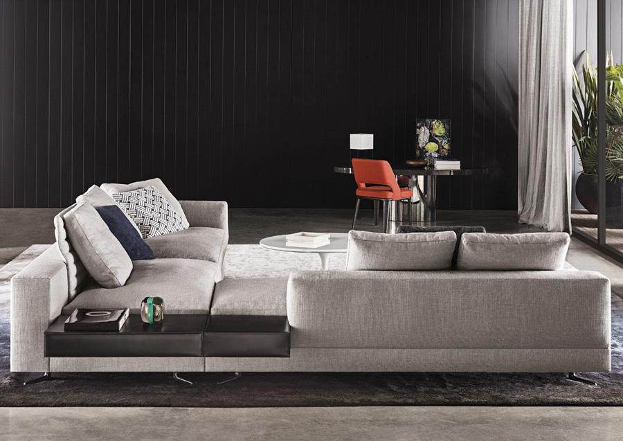 Peachy White Sofa Designed By Rodolfo Dordoni Minotti Orange Skin Caraccident5 Cool Chair Designs And Ideas Caraccident5Info