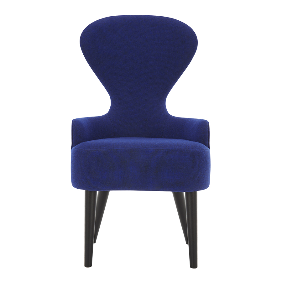 Wingback Dining Chair Designed By Tom Dixon Orange Skin - Tom dixon wingback chair