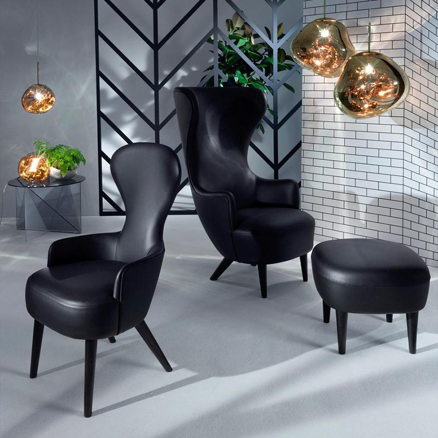 Wingback Chair Designed By Tom Dixon Orange Skin - Tom dixon wingback chair