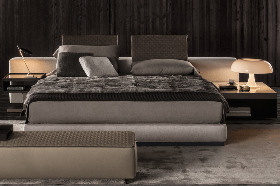 Yang Bed Designed By Rodolfo Dordoni For Minotti Orange Skin