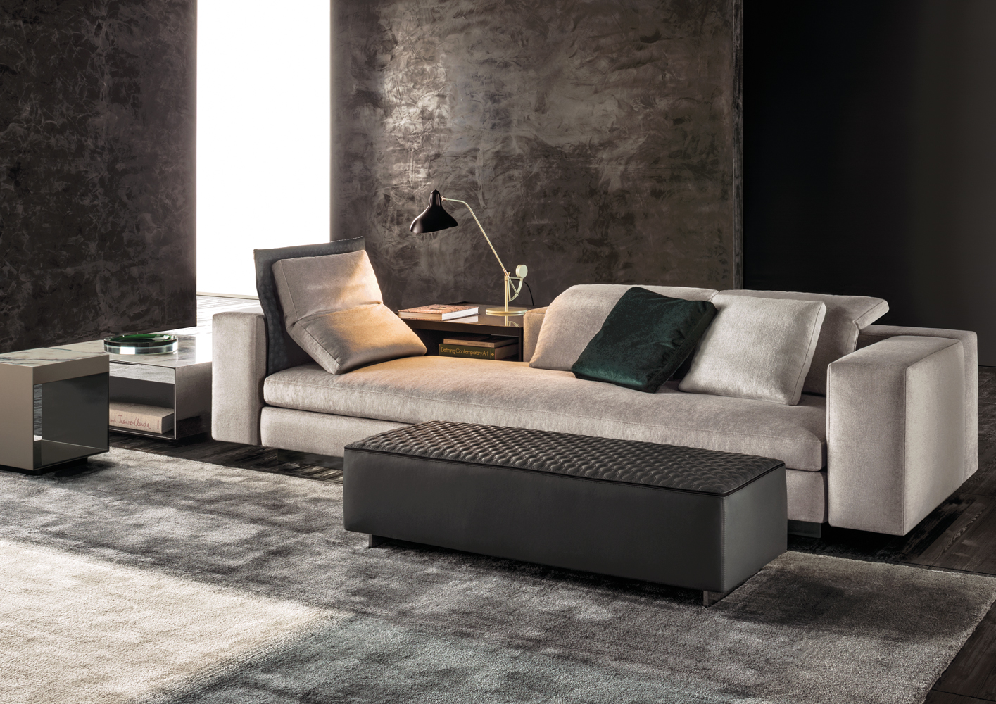 yang sofa designed by rodolfo dordoni for minotti. Black Bedroom Furniture Sets. Home Design Ideas