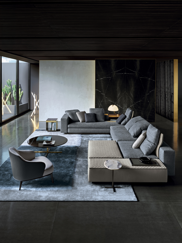 Yang Chaise Designed By Rodolfo Dordoni For Minotti