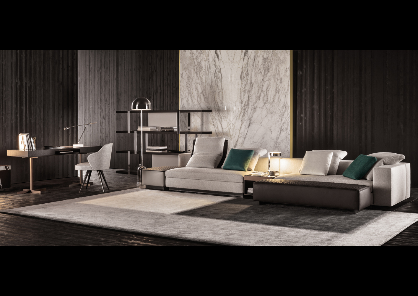 Design Bank Minotti.Yang Sofa Designed By Rodolfo Dordoni For Minotti Orange Skin
