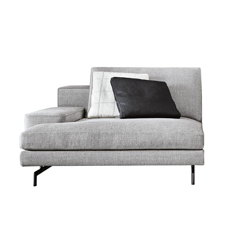 Sherman chaise longue for Chaise longue textilene alu