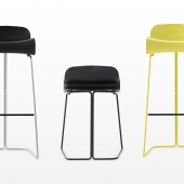 BCN Stool on slide frame