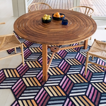 Kilim Parquet Hexagon Rug
