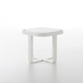 Mesa Baja Circular Flat Side Table