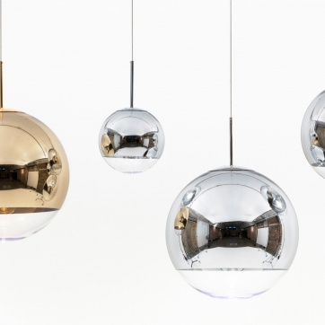 Mirror ball pendant light designed by tom dixon orange skin mirror ball pendant aloadofball Image collections