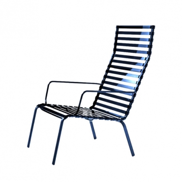 Striped Lounge Chair (High Back)