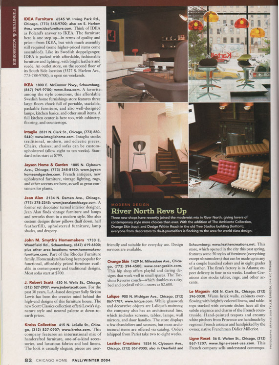 FALL 2004  CHICAGO HOME MAGAZINE
