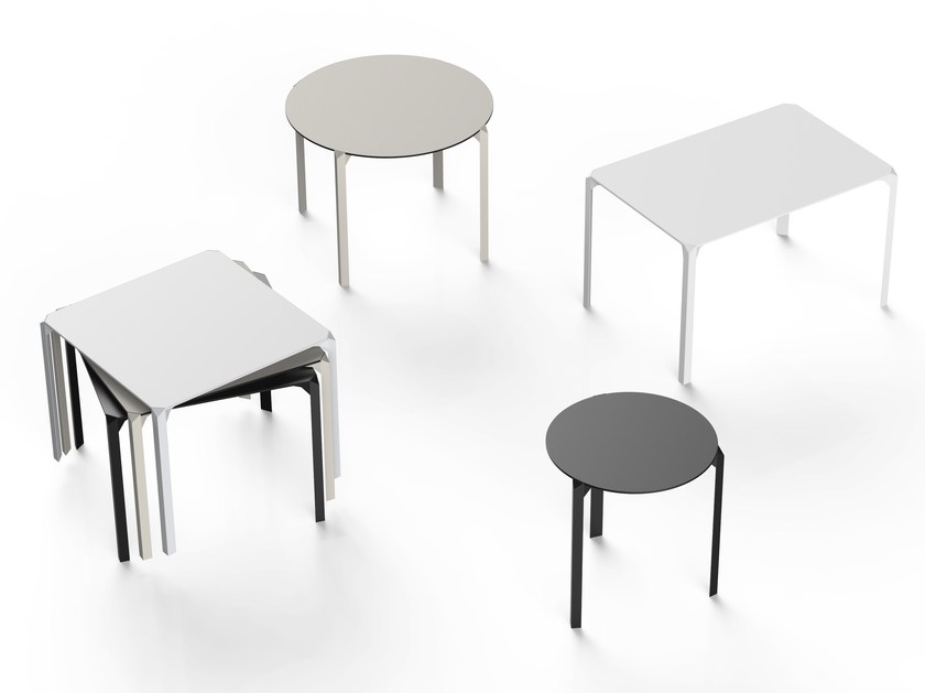 Quartz Dinning Table Designed By Ramon Esteve Vondom Orange Skin