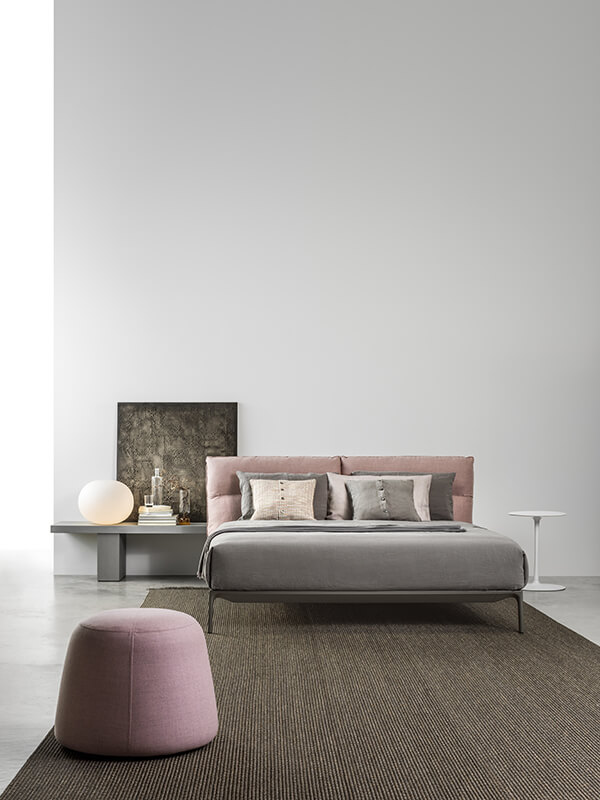 Yale Bed Designed By Jean Marie Massaud Mdf Orange Skin